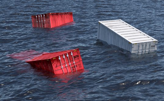 Lost boxes can be a danger to other vessels in navigational channels as well as polluting the oceans.