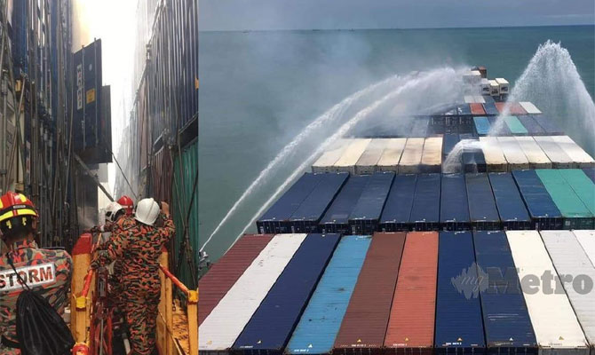 Container ship with 1