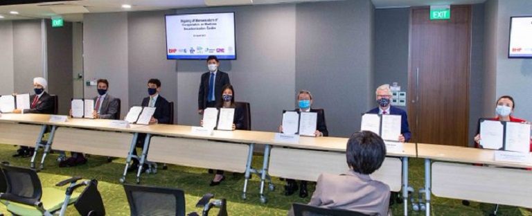 At the signing of the Memorandum of Cooperation to establish a S$120 million fund