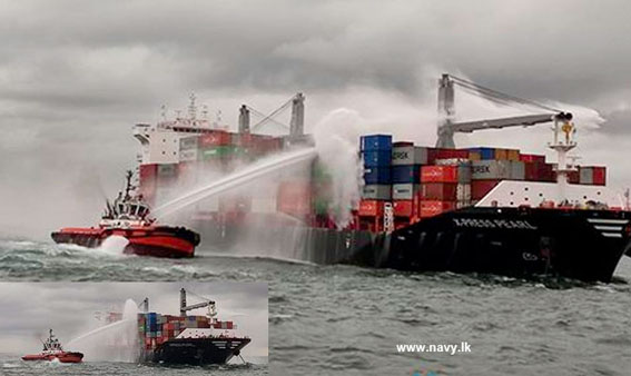 Container fire erupts onboard 2