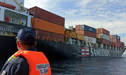 Container ship collided 2