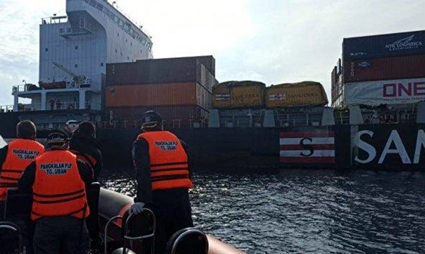 Container ship collided 3