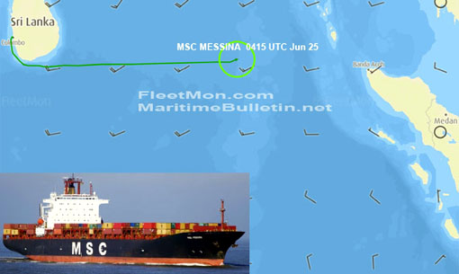 Container ship MSC MESSINA 2